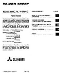 pinin electrical wiring diagram wiring diagram and schematic 1999 mitsubishi pajero sport electrical wiring diagram phje9810