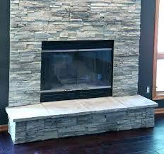 stone veneer over brick fireplace diy does need a ledge wall