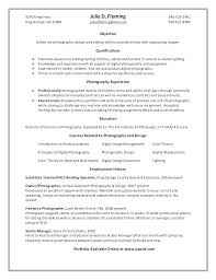 Photography Resume Template Professional Photographer Resume ...