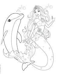 Barbie Mermaid Coloring Mermaid Barbie Coloring Pages Mermaid Barbie