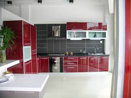 Red White Kitchen Red Kitchen Cabinets Black Countertops Com With Cabinet White