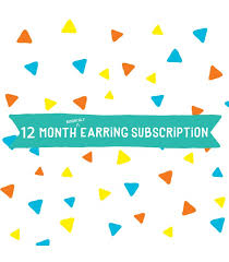 Option 4 Earrings 12 Month Bi Monthly Subscription