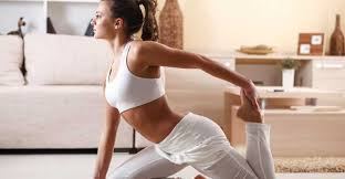 Sexy black yoga teacher