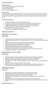 Resume Of Charge Charge Nurse Resume Good Resume Writing Resume