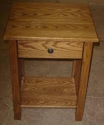 Wonderful Custom Made New Mission Style Solid Oak Wood Bedside   Bedroom   Living  Room End Table