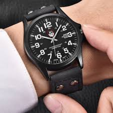 Wholesale Designer Watches Us 5 5 50 Off Wholesale Watches Mens Casual Leather Date Watch Men Military Sports Gifts Quartz Wristwatches Fashion Vintage Designer Watches In