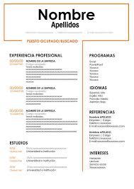 Curriculum Vitae Cool Modelo De Curriculo Vitae Para Word Plantilla Gratis