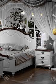 Schöne Craftsman Schlafzimmer Moderne Schlafzimmer Architektur Stock