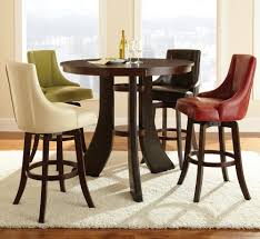 round bar height table with swivel chairs