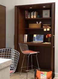 traditional hidden home office desk. Closet Desk Design With Contemporary Task Chairs Home Office And Built-in Traditional Hidden F