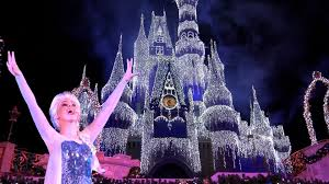 Frozen Holiday Wish Castle Lighting Show A Frozen Holiday Wish Magic Kingdom Holiday Castle Lighting