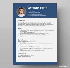 A Perfect Example Of Modern Resume Resume Templates Examples Free Word Doc