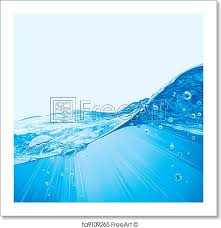 Ocean Wave Background Free Art Print Of Water Wave Background With Bubbles Abstract Water