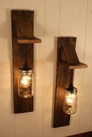 small bulb great wall pendant light fixture pair of reclaimed wooden mason jar chandelier mount