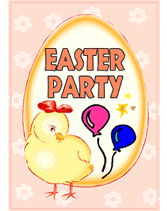 Easter Free Printable Party Invitation Template