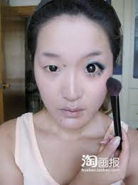 small to big eyes makeup