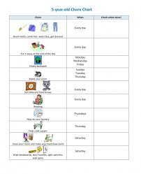 Make Your Own Responsibility Chart Childrens Chore Chart Challenge