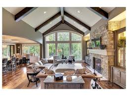full size of living room stone fireplace views arched doorway window mantle tv above neutral