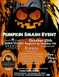 pumpkin carving contest flyer pumpkin smash crown valley brewery
