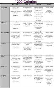 Calorie Diet Chart 1200 Calorie Meal Plan Final 1200 Calorie Meal Plan