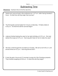 Time Worksheet 1