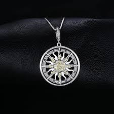 <b>JewelryPalace</b> Large Celestial Sun Circle <b>Pendant Necklace</b> ...