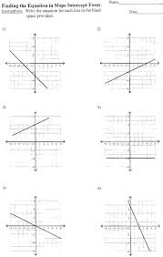 attractive writing equations in slope intercept form worksheet business point algebra 1 worksheets queensammy for elementary