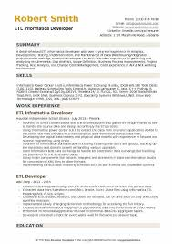 Obiee Developer Etl Informatica Developer Resume Samples Qwikresume