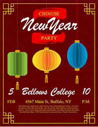 New Year Flyers Template Lanterns Chinese New Year Flyer