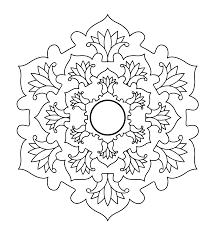 Libro Da Colorare Line Art Immagine Scaricare Giapponese Mandala