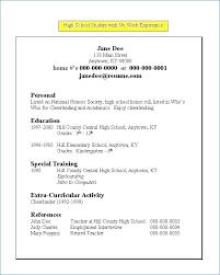 High School Resume Builder Resume Builder For College Students