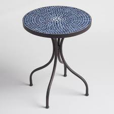 Round outdoor metal table Bistro Table Outdoor Accent Furniture tables Bar Stools Outdoor Bar Sets World Market World Market Outdoor Accent Furniture tables Bar Stools Outdoor Bar Sets