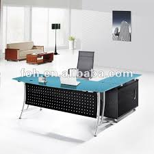 office table tops. Popular Of Glass Office Tables And Blue Top Modern Furniture Table Fohj 8058 Tops