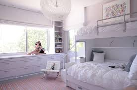 High Quality Bedroom 9 Contemporary Girls Bedroom In White With Plush Bunk Beds 50  Contemporary Bunk Bed Ideas