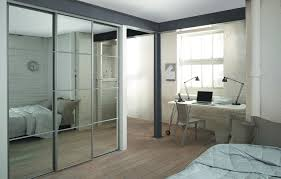 4 silver frame mirror 4 panel sliding wardrobe doors and track to fit an opening width of 2387mm
