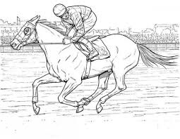 Small Picture Kids Horse Racing Coloring Pages Horse Decor Pinterest Horse