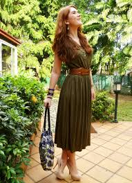 The Joy Of Fashion Outfit Olive Green Dress Olive Green Dress Outfit