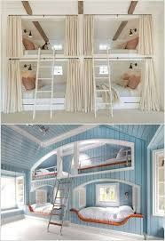 Wonderful Cool Bunk Beds For 4 With Individual Windows Intended Concept Ideas