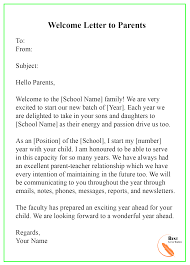 015 Welcome Letter To Parents Template Ideas Unusual Teacher