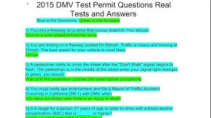 dmv test 2015. Simple Dmv 2015 California DMV Test Permit Questions Real Tests And Answers With Dmv A