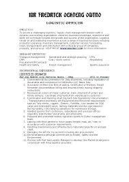 Transportation Resume Examples Logistics Resume Sample Sample Supply Chain Management Cover Letter