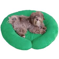 luxury dog beds. Puppy Hugger C-Shape Luxury Designer Custom Made Dog Bed - Dimples Fabric Beds