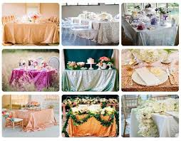 rose gold sequin table cloth shimmer sparkly overlays tablecloths for wedding 72 round