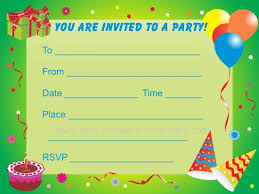 free printable invitation cards for birthday party for kids birthday party invitations for kids
