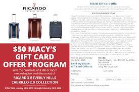 Ricardo Beverly Hills Luggage Rebate