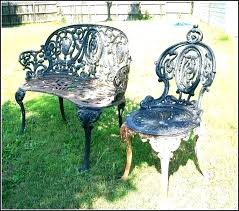 wrought iron outdoor chair garden furniture chairs antique patio black metal dining wroug