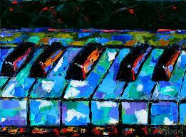 abstract piano art painting keyboard painting by debra hurd