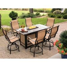 bar height fire pit table set interesting dining tables fire pit patio table set best of