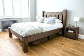 Rustic King Size Bed Frame Rustic Queen Size Bed Frames Reclaimed ...