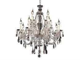 elegant lighting alexandria royal cut chrome crystal 12 light 28 wide chandelier